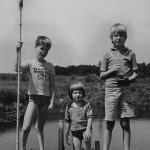 Roland Oesker Drei am Fischteich