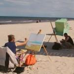 Malen am Strand